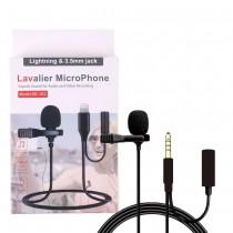Микрофон петличка Lightning + 3.5, арт.012598