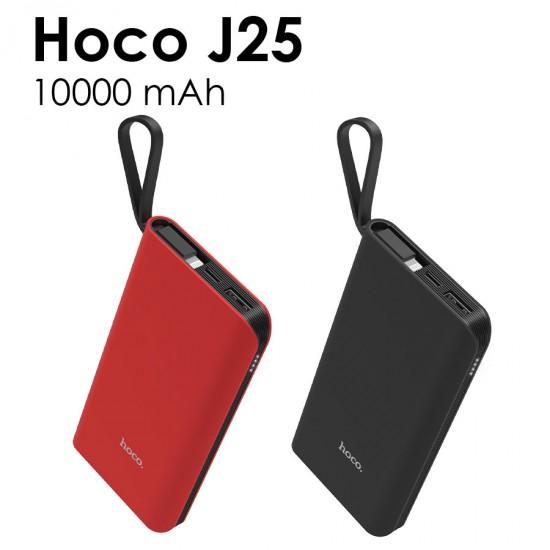 Внешний аккумулятор универсальный Hoco J25 10000 mAh с кабелем Lightning, арт.011248