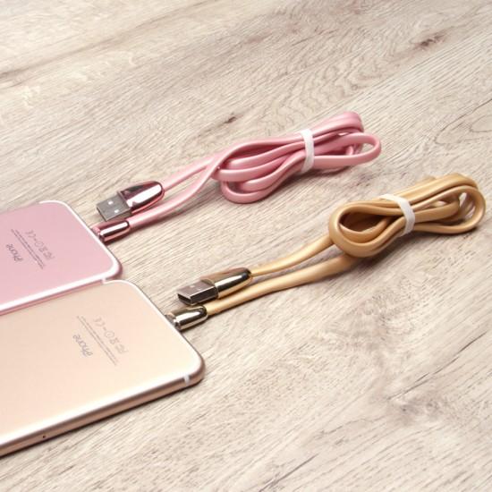 Силиконовый кабель USB-lightning для iPhone 5/6/7, 1 метр, арт.009677