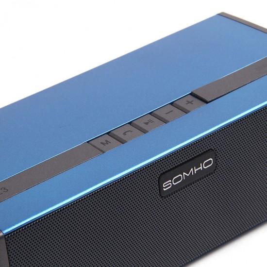 Портативная колонка SOMHO S323 с bluetooth, арт.010702