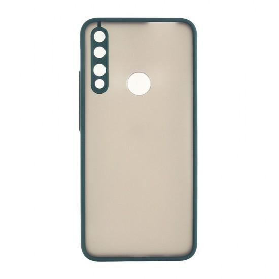 Чехол для Huawei P Smart Z/9X,ТПУ, матовый, с цветными бортиками, арт 011417