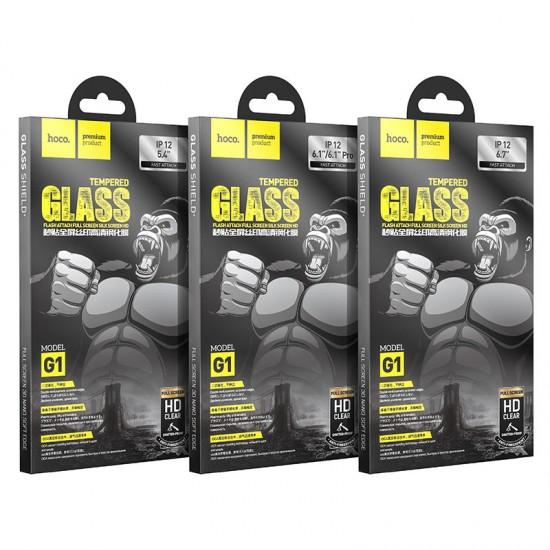 Защитное стекло Hoco для iPhone 12 / 12 Pro на полный экран, арт.012052