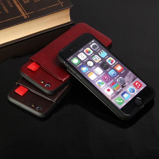 Кожанный чехол JDK с карманом для iPhone 6/6S, арт.010551