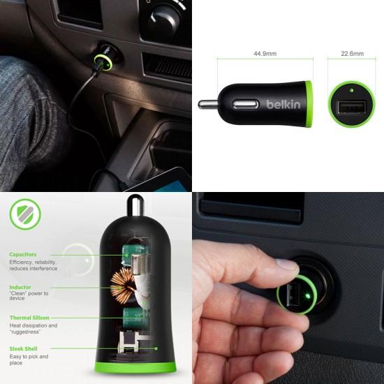 Автомобильное зарядное устройство Belkin 2 в 1 для iPhone 5/6/6+ 2100 mAh, арт. 008725