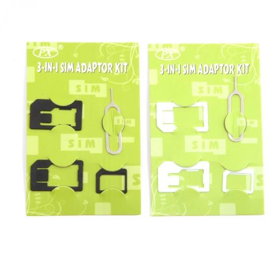 Набор адаптеров для сим-карт 3 в 1, арт.007993