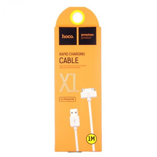 USB дата кабель HOCO X1 для Apple iPhone 3G/4/4S, арт.009620