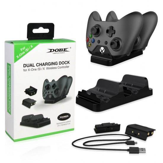 Зарядная станция + 2 аккумулятора Dobe TYX-532 (Xbox One S),  арт.012548