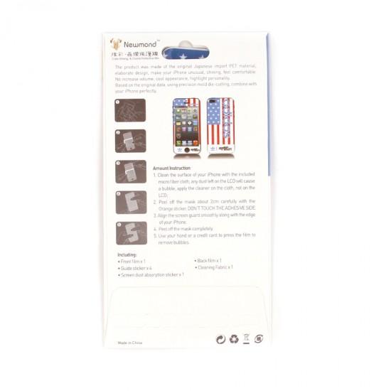 Декоративная пленка 2 в 1 для iPhone 5, арт.MS-004