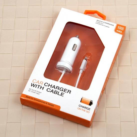 Автомобильное зарядное устройство для iPhone 5/6/6+ 1000 mAh, арт. 008041