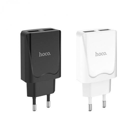 Сетевой адаптер Hoco C52A на 2 USB 2.1 А, арт.011485