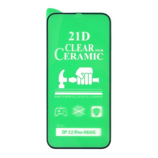 Стекло Ceramic iPhone 12 Pro Max противоударное, в тех.упак. (в комп. 25 шт), арт. 012537