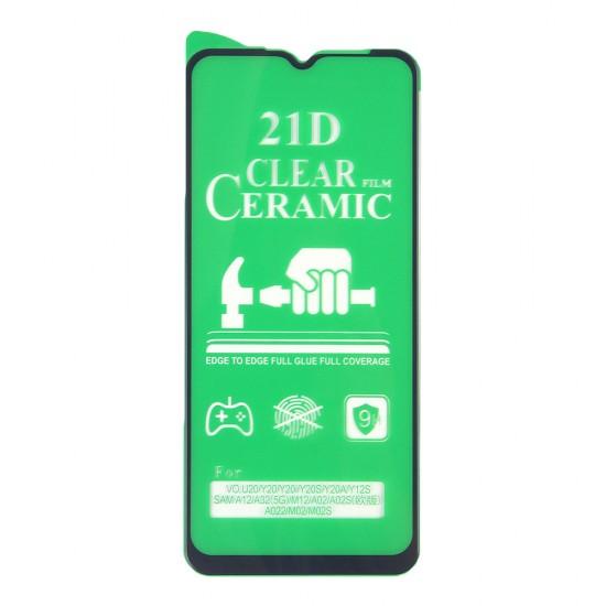 Стекло Ceramic Samsung Galaxy A12/A02/A02s/M12 противоударное, тех.пак. (в комп. 25 шт), арт. 012537