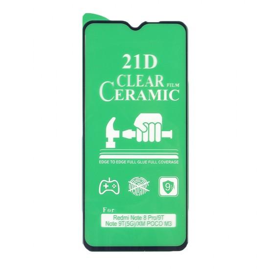 Стекло Ceramic Xiaomi Redmi Note 9T противоударное, в тех.упак. (в комп. 25 шт), арт. 012537