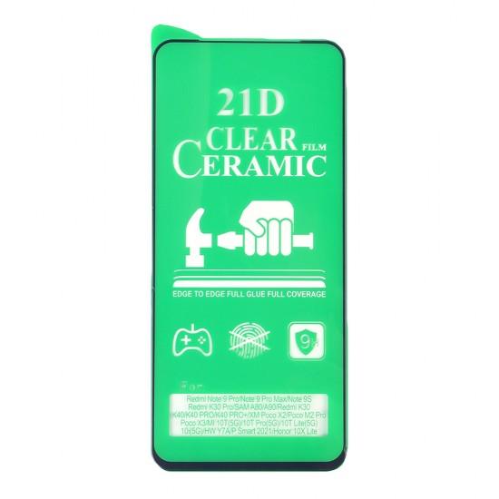 Стекло Ceramic Xiaomi Redmi Note 10 Pro противоударное, в тех.упак. (в комп. 25 шт), арт. 012537