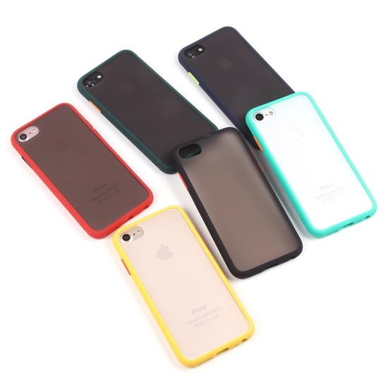 Матовый чехол ТПУ с цветными бортиками для iPhone 7, арт 011417