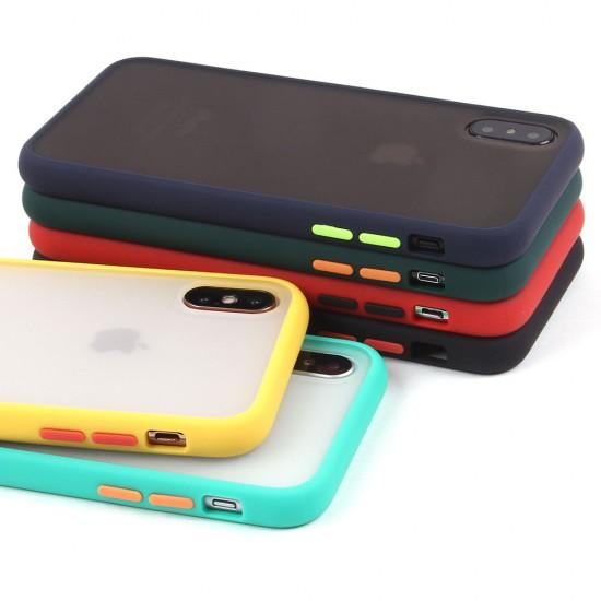 Матовый чехол ТПУ с цветными бортиками для iPhone X/XS, арт 011417