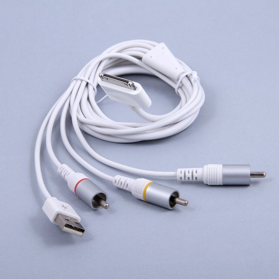 AV кабель для Apple iPad/iPhone/iPod с USB, арт.002908