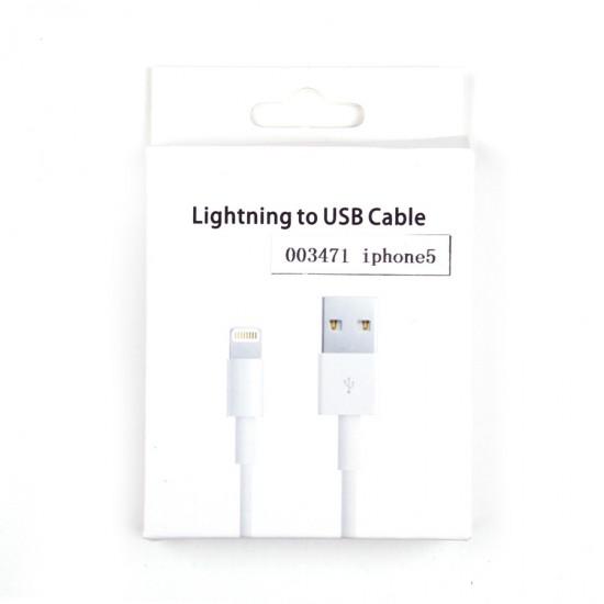USB дата кабель для Apple iPhone 5/iPad 4/iPad mini, арт.003471/002935