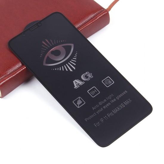 Защитное стекло Full Glue матовое для iPhone 11 Pro Max на полный экран, арт.011465
