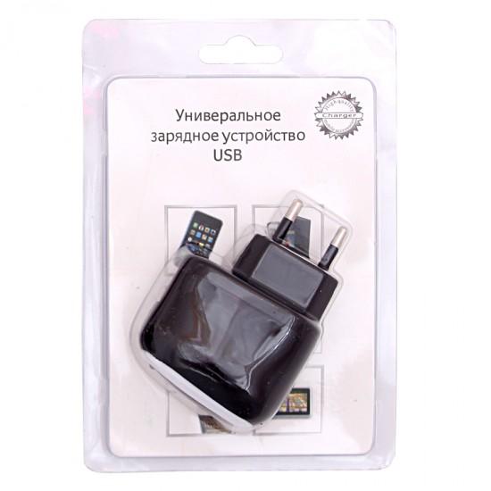 Сетевой адаптер USB 500 mAh черный, арт.001063