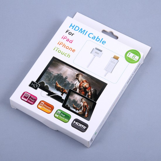 Комплект HDMI кабель для iPad 2/3/iPhone 4/4S/iPod, арт.006277