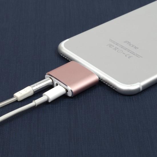 Адаптер Lightning + 3.5 jack для iPhone 7, арт.009626