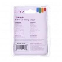 USB Hub разветвитель CBR CH-130, 4 порта USB 2.0, арт.012488