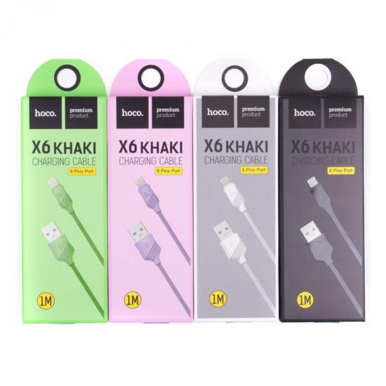 USB-Lightning дата кабель HOCO X6 для iPhone, арт.010115