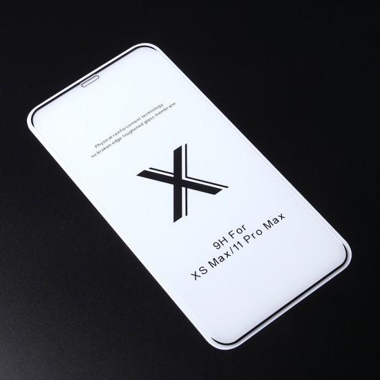 Защитное стекло Full Glue Premium для iPhone 11 Pro Max на полный экран, арт. 011692