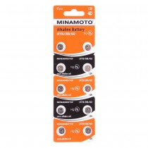 Батарейки MINAMOTO AG2 (LR726) BL10, арт.012047