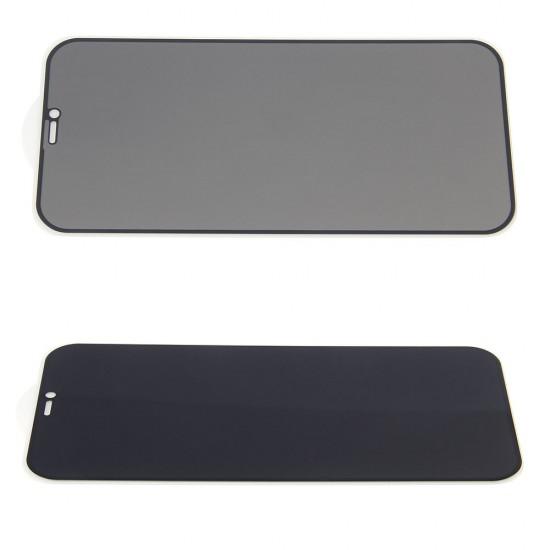 Стекло для iPhone 12 Pro Max на полный экран, анти-шпион, арт.012454