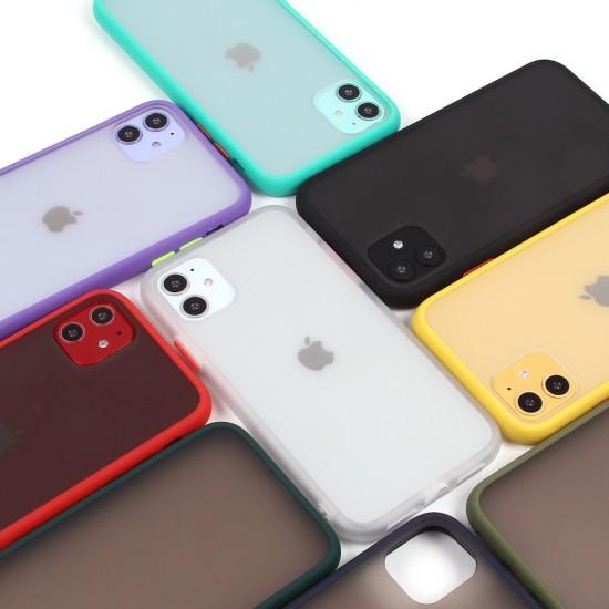 Матовый чехол ТПУ с цветными бортиками для iPhone 11, арт 011417