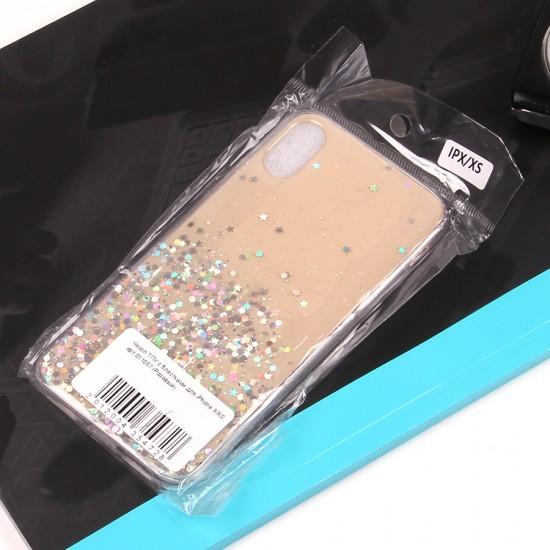 Чехол ТПУ с блестками для iPhone X/XS, арт.011057