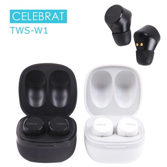 Беспроводная гарнитура Celebrat TWS-W1, арт.011280