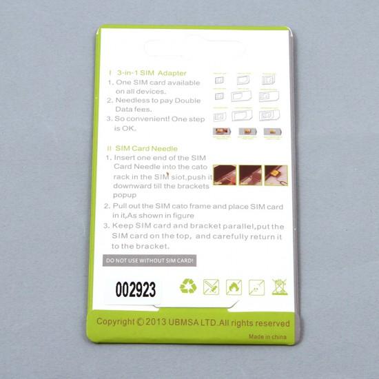 Набор адаптеров для сим-карт 3 в 1, арт.002923