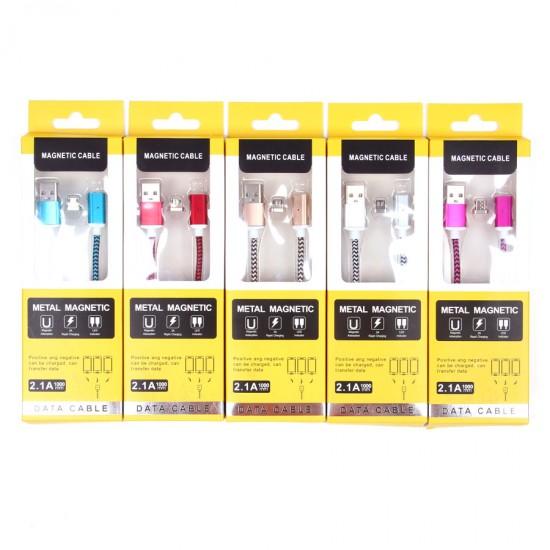 USB- micro USB дата кабель магнитный, арт.009730