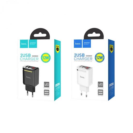 Сетевой адаптер Hoco C39A на 2 USB 2.4 А, арт.010622
