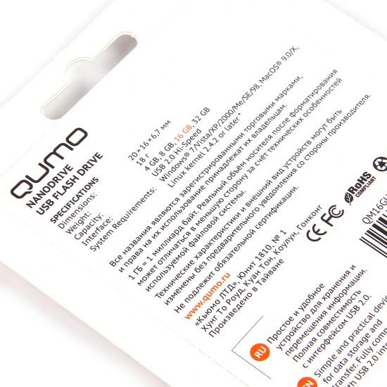 Флеш-накопитель 8 Gb Qumo Nano