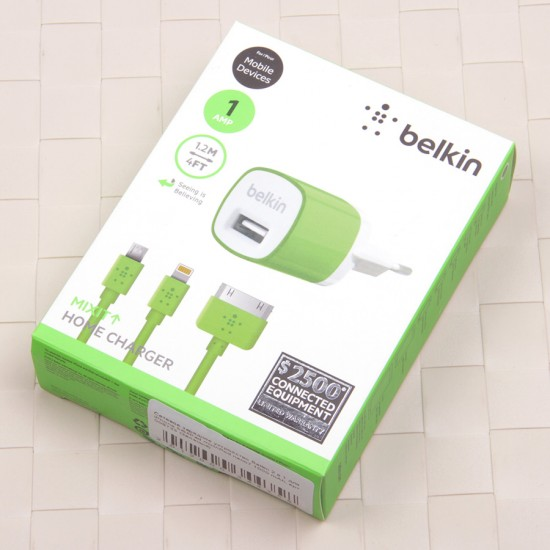 СЗУ Belkin 2 в 1 для iPhone 4/4s/3G/3Gs 1000 mAh, арт. 008723