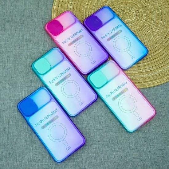 Чехол для iPhone 12 Pro Max Градиент, с защитой камеры, арт.012939