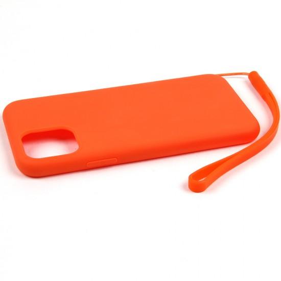 Силиконовый матовый чехол с ремешком для iPhone 11 Pro, арт.011397