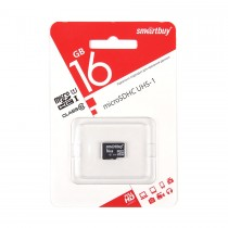 MICRO SD 16Gb Smart Buy Class 10 UHS-I без адаптера SD